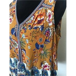 NWOT ✨ Patrons of Peace gorgeous colorful boho top
